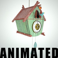Full animated cuckoo clock